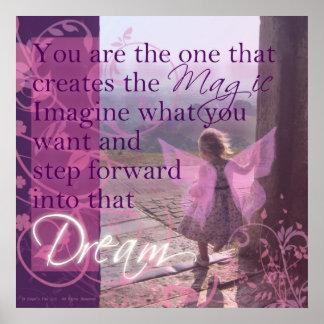 Usted es la magia póster