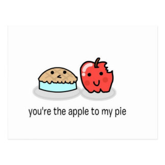 Usted es la manzana a mi empanada tarjetas postales