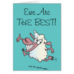 Usted es la mejor oveja del retruécano de la oveja felicitación