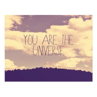 Usted es la postal del universo