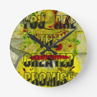 Usted es la promesa creada reloj redondo mediano