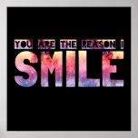 Usted es la razón que sonrío poster