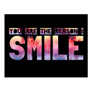 Usted es la razón que sonrío postal