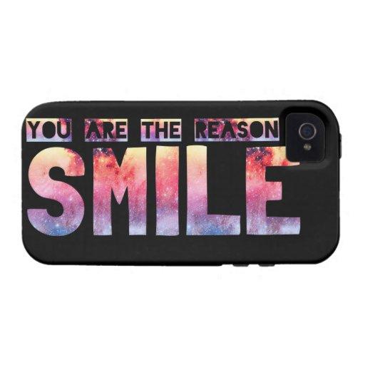 Usted es la razón que sonrío vibe iPhone 4 carcasa