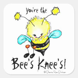 Usted es la rodilla de la abeja pegatina cuadrada