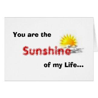 Usted es la sol de mi vida… tarjetas