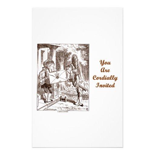 Usted es lacayos cordialmente invitados de los pes  papeleria de diseño