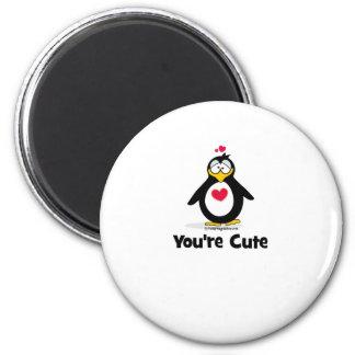 Usted es lindo imán redondo 5 cm