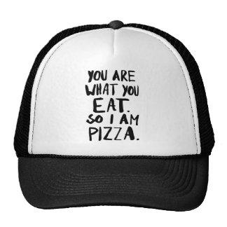 Usted es lo que usted come gorras de camionero