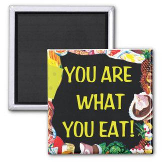 Usted es lo que usted come iman de frigorífico