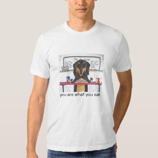 Usted es lo que usted come la camiseta camisas