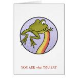 Usted es lo que usted come la tarjeta