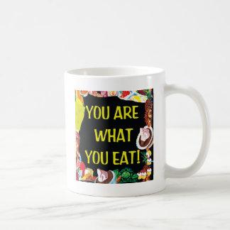 Usted es lo que usted come taza de café