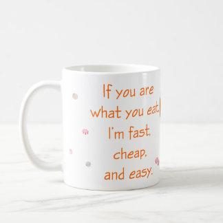 Usted es lo que usted come taza básica blanca