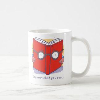 Usted es lo que usted lee taza de café