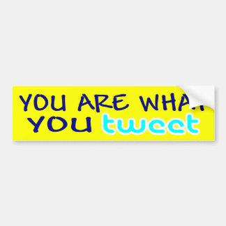 usted es lo que usted pia etiqueta de parachoque