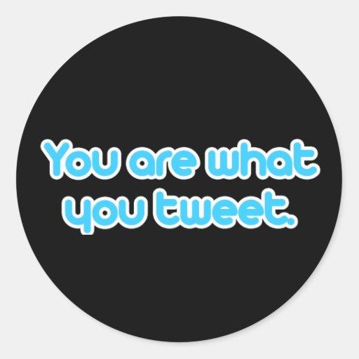 Usted es lo que usted pia etiqueta