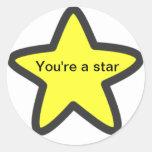 """""""Usted es los pegatinas de una estrella"""""""