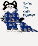 ¡Usted es los pijamas del gato! Camiseta y ropa Playeras