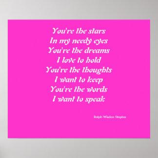 Usted es los sueños poster