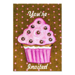 Usted es magdalenas rosadas invitadas invitacion personalizada
