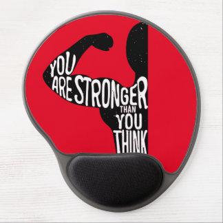 Usted es más fuerte que usted piensa alfombrillas de ratón con gel