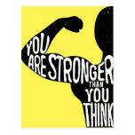 Usted es más fuerte que usted piensa tarjeta postal