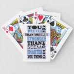 Usted es más valiente que usted cree el regalo baraja de cartas