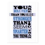Usted es más valiente que usted cree el regalo postal