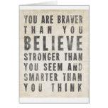 Usted es más valiente que usted cree tarjetas