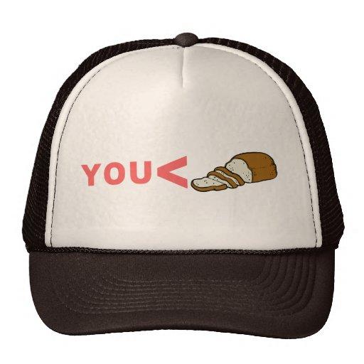 Usted es menos que la camiseta cortada del pan gorras
