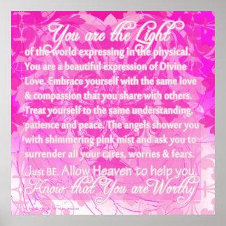 Usted es mensaje inspirado digno de divino impresiones