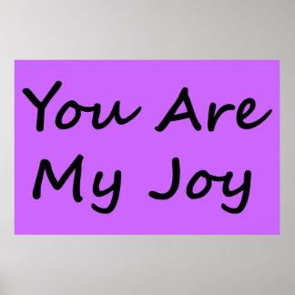 Usted es mi alegría póster