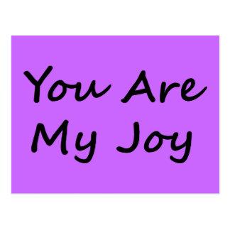 Usted es mi alegría tarjeta postal