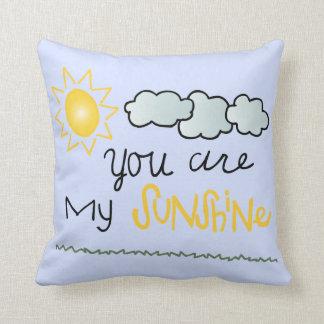 Usted es mi almohada decorativa de la sol