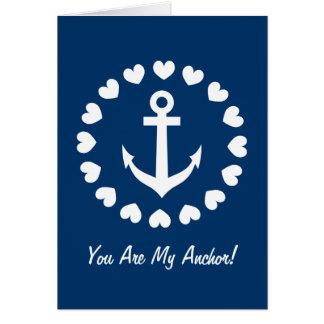 Usted es mi amor náutico de la tarjeta de felicita