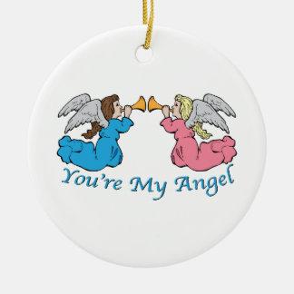 Usted es mi ángel ornaments para arbol de navidad