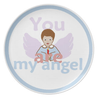 Usted es mi ángel plato para fiesta