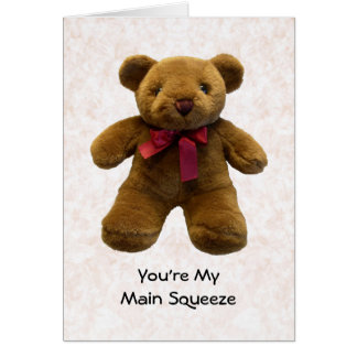 Usted es mi apretón principal tarjeta de felicitación