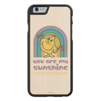 Usted es mi arco de la sol funda de iPhone 6 carved® de arce