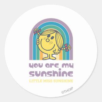 Usted es mi arco de la sol pegatinas redondas
