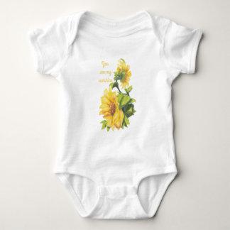 Usted es mi arte del girasol de la cita de la sol body para bebé