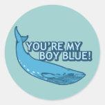 ¡Usted es mi azul del muchacho! película+regalos Pegatinas Redondas