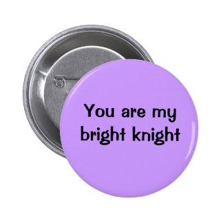Usted es mi caballero brillante pin redondo de 2 pulgadas