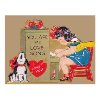 Usted es mi canción de amor postales