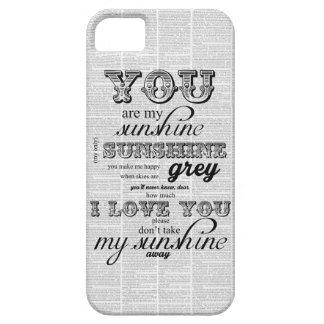 Usted es mi caso enrrollado del iphone del vintage iPhone 5 carcasas