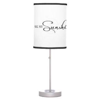 Usted es mi cita de la sol por citas que encantan lámpara de mesa