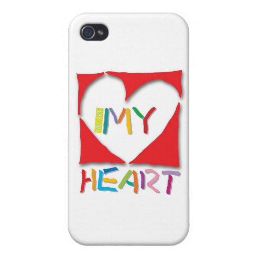 Usted es mi corazón iPhone 4/4S carcasa