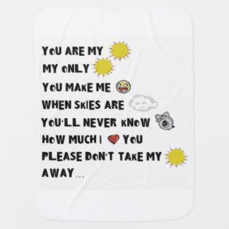 Usted es mi criba de la sol mantita para bebé