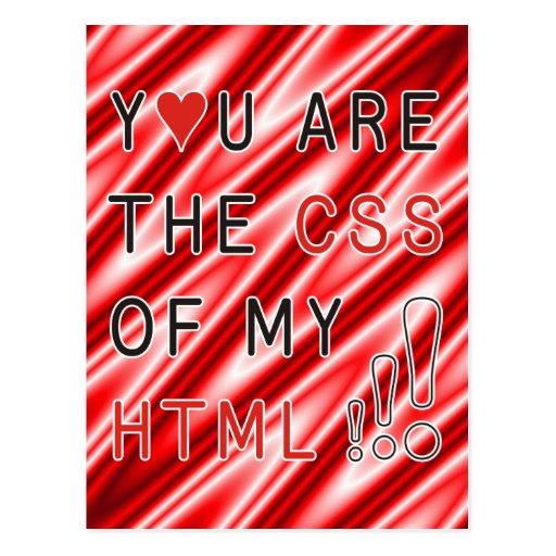 Usted es mi CSS - ondas blancas rojas Postales